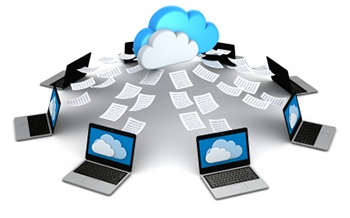 Computers sending files to the cloud